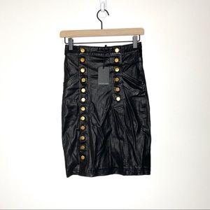 NWT Marissa Webb Leather Skirt